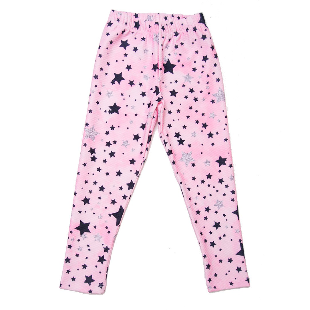 LEGGING ROSA ESTAMPADA STAR KIDS