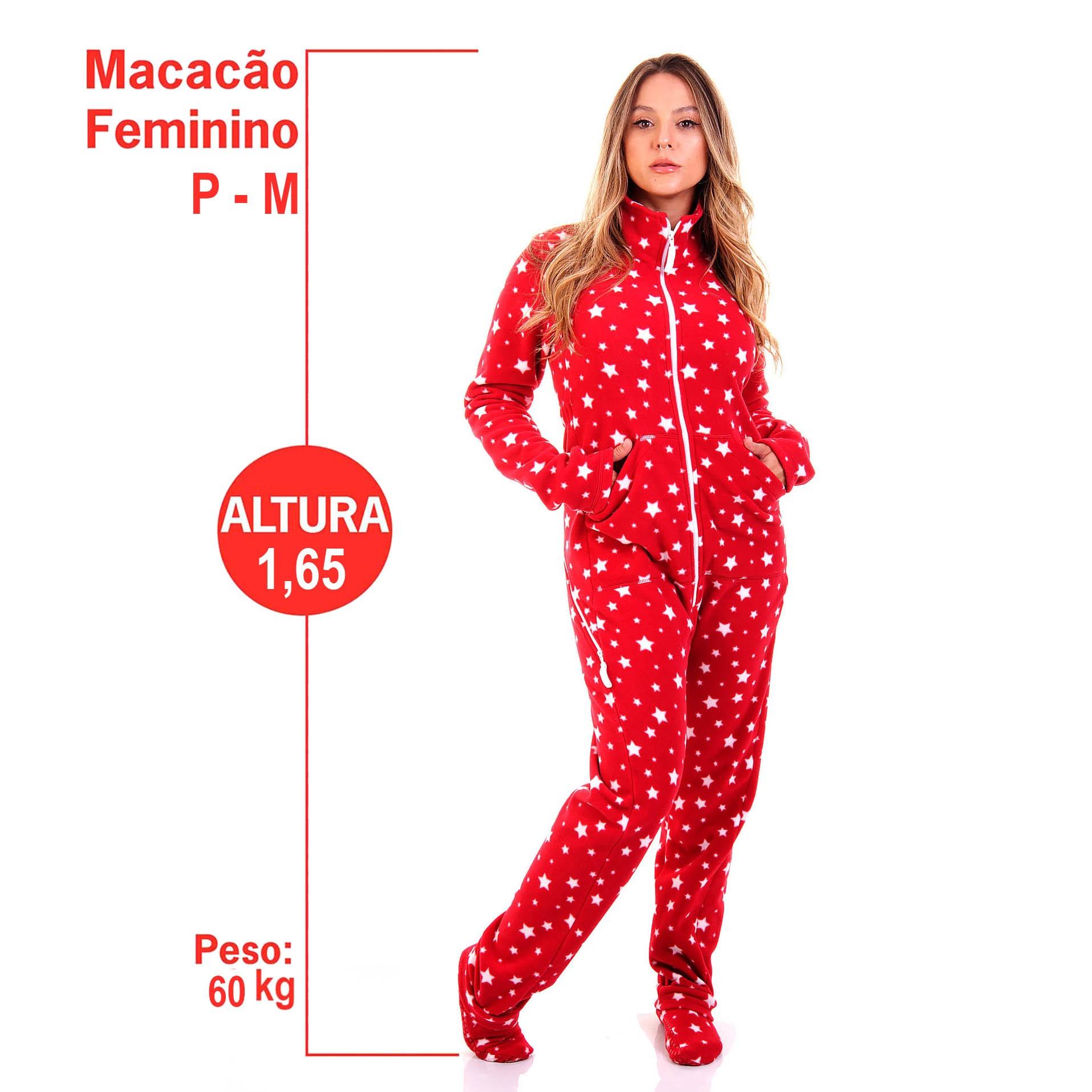 MACACÃO PIJAMA FEMININO