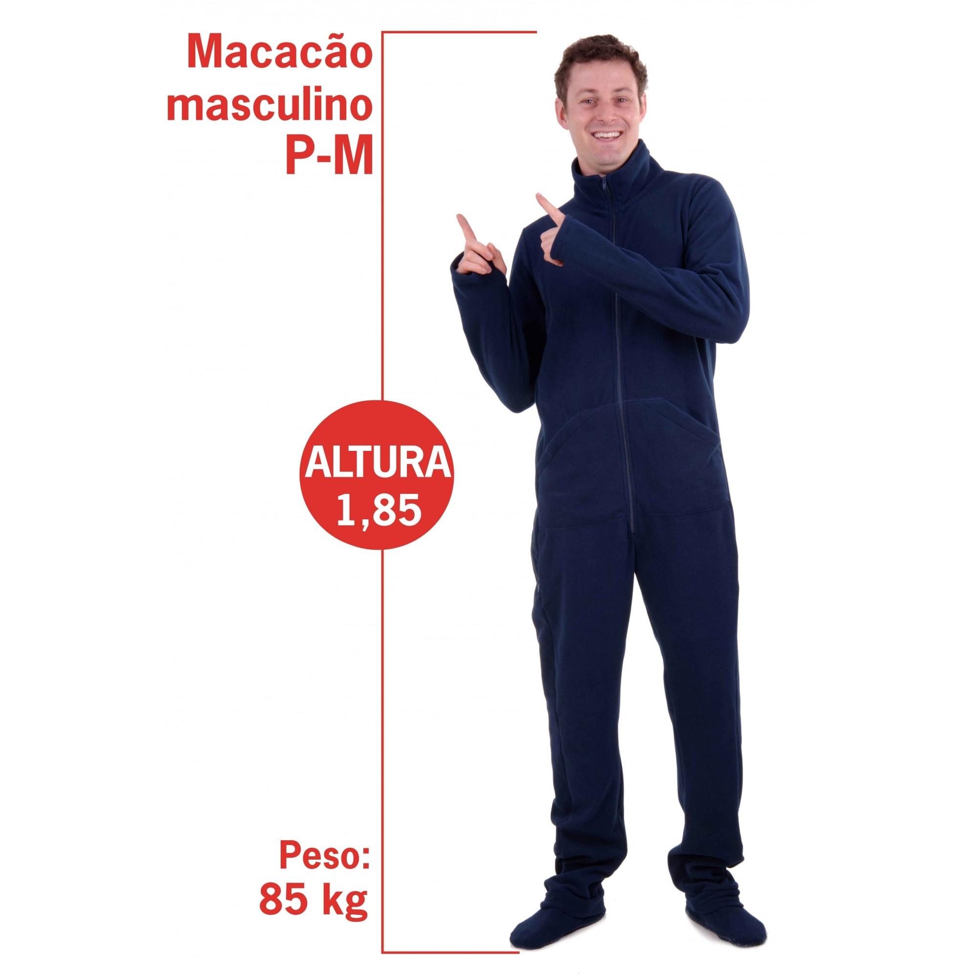 MACACÃO PIJAMA MASCULINO