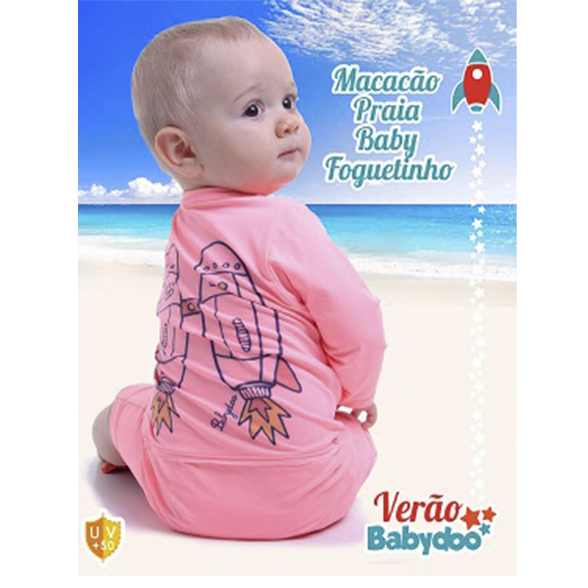 MACACÃO PRAIA FOGUETINHO BABY
