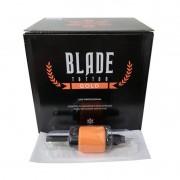 Caixa 09 MG Biqueira Descartável Blade Tattoo Gold Pintura 1.2 pol 31 mm