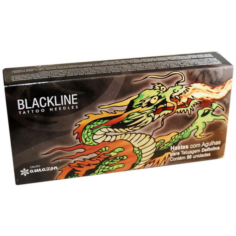 Agulha de Tatuagem Black Line 04 RL Traços e Linhas - 1 unidade