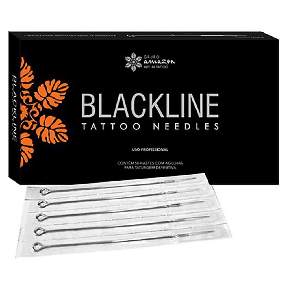 Agulha para Tatuagem Black Line 09 MR Magnum Round - Caixa
