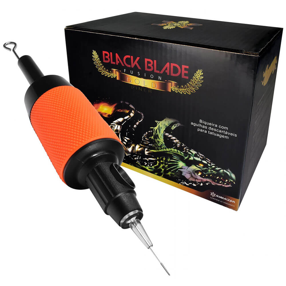 Biqueira com Agulha Black Blade Fusion 04 RL - 1 UNIDADE