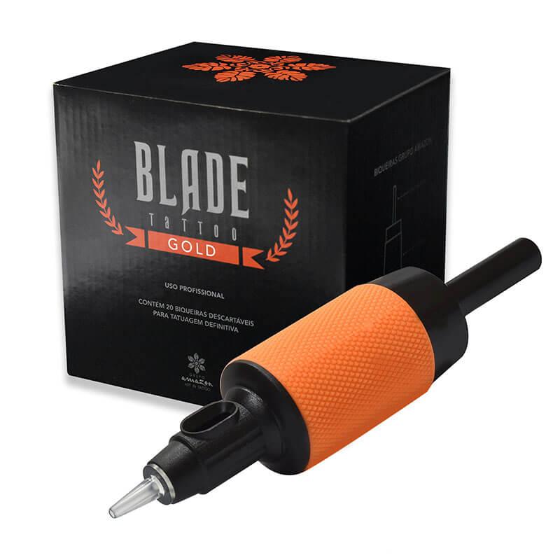 Biqueira Descartável de Tatuagem Blade Tattoo Gold - RL Traço Unidade