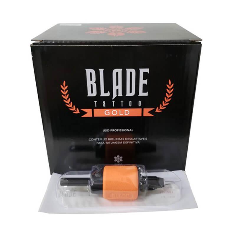Caixa 03 RL Biqueira Descartável Blade Tattoo Gold Traço 1.2 pol 31 mm