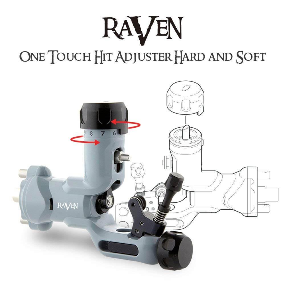 Máquina Rotativa para Tattoo DragonHawk Raven Cinza