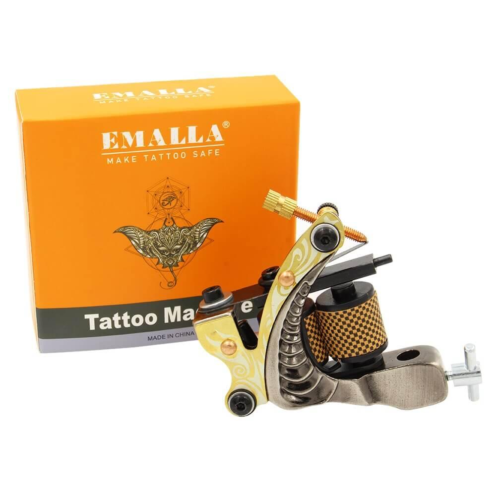 Máquininha de Tatuagem Brown Shark Emalla Tattoo