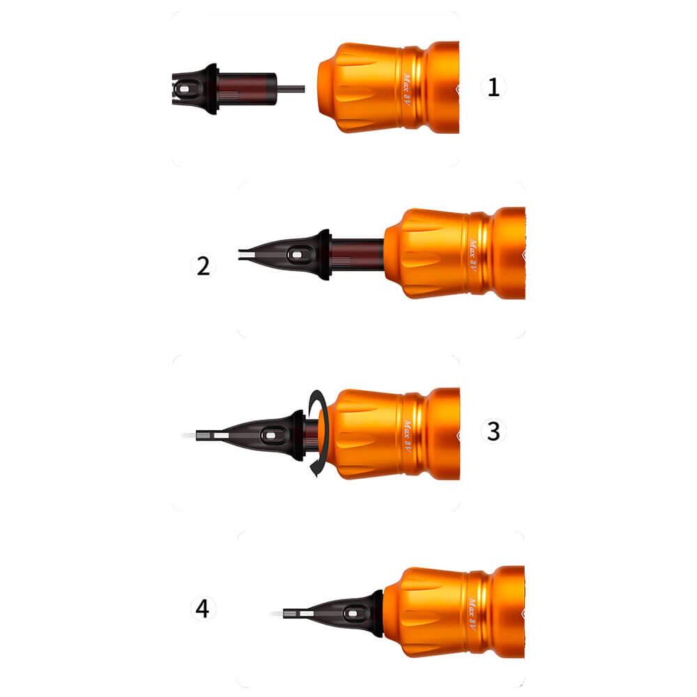 Rocket Mini Tattoo Pen - Laranja