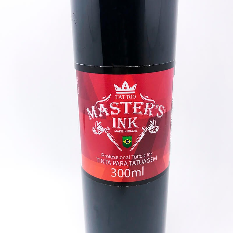 Tinta para Tattoo Preto Tribal 300ml Masters Ink