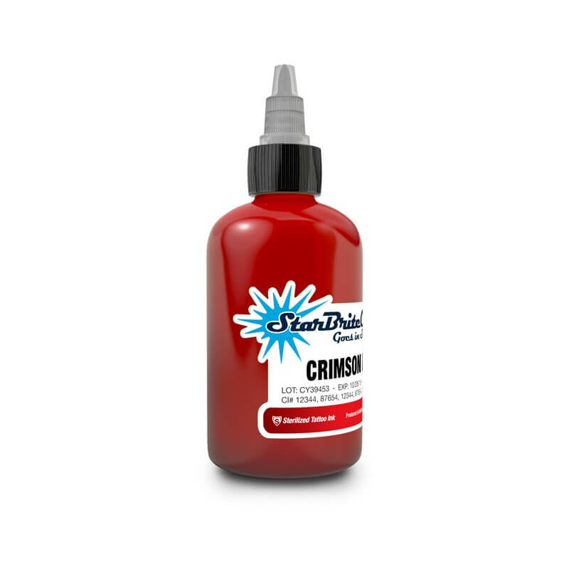 Tinta para Tattoo StarBrite Colors Crimson Red 30ml