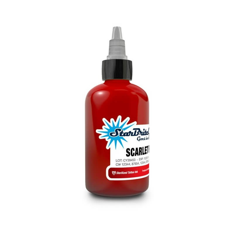 Tinta para Tattoo StarBrite Colors Scarlet Red 30ml