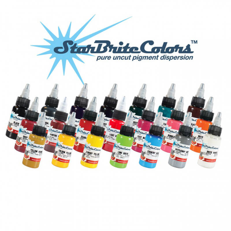 Tinta para Tattoo StarBrite Colors Tribal Black 30ml