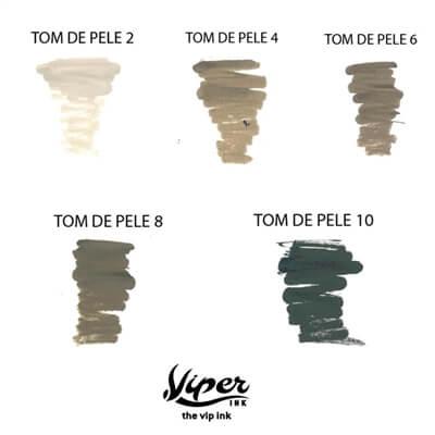 Tinta para Tatuagem e Micropigmentação Tom de Pele 3 Viper Ink 15ml