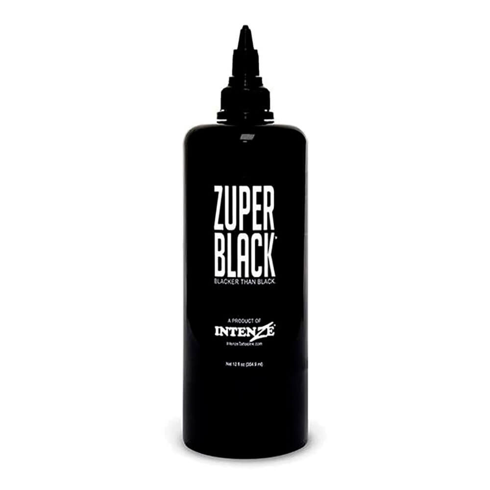 Tinta para Tatuagem Intenze Zuper Black 354 ML