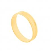 Aliança de Casamento Ouro 10k Elegance Côncava 4,5 mm