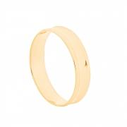 Aliança de Casamento Ouro 18k Elegance Côncava 4,5 mm