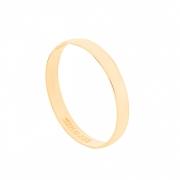 Aliança de Casamento Ouro 18k Tradicional Lisa 2,5 mm
