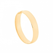 Aliança de Casamento Ouro 18k Tradicional Lisa 3,5 mm