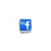 Berloque Prata 925 Facebook 12 mm