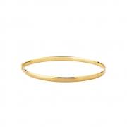 Bracelete Ouro 10k Liso Fio Oco 3 x 1,2 mm