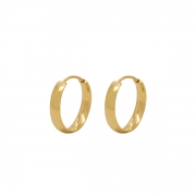 Brinco Ouro 18k Argola Lisa 12 mm