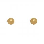 Brinco Ouro 18k Bolinha 4 mm