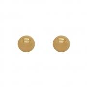 Brinco Ouro 18k Bolinha Grande 10 mm