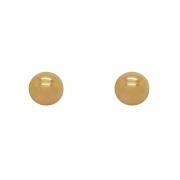 Brinco Ouro 18k Bolinha Oca 6 mm