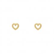 Brinco Ouro 18k Coração Mini 5,5 mm