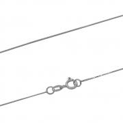 Corrente Ouro 18k Branco Elo Veneziana 45 cm