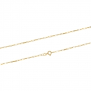 Corrente Ouro 18k Elo Cartier 60 cm com 0,7 mm de Espessura