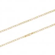 Corrente Ouro 18k Elo Groumet Achatado 60 cm