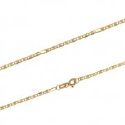 Corrente Ouro 18k Elo Piastrine 45 cm