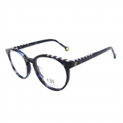 Óculos de Grau Carolina Herrera Feminino Redondo VHE802V