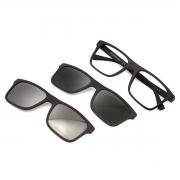 Óculos de Grau Emporio Armani Masculino Clip On EA4115