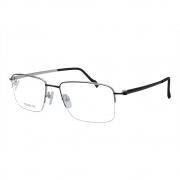 Óculos de Grau Stepper Unissex Titanium com Fio de Nylon SI-60123