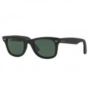 Óculos de Sol Ray-Ban Wayfarer Couro Masculino Polarizado RB2140QM