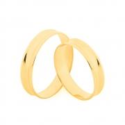 Par de Alianças de Casamento Ouro 10k Elegance Côncava 4,5 mm