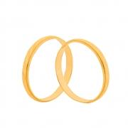 Par de Alianças de Casamento Ouro 10k Trabalhada 2 mm