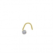 Piercing de Nariz Ouro 18k Ponto de Luz com Zircônia 2 mm