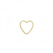 Piercing Ouro 18k Argola Coração 14 mm