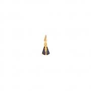 Pingente Ouro 10k N. Sra. Aparecida com Zircônias Azuis 12 mm
