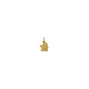 Pingente Ouro 18k Anjinho Pensador Pequeno 8 mm