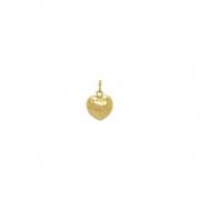 Pingente Ouro 18k Coração Chapa 16 mm
