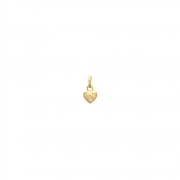 Pingente Ouro 18k Coração Pequeno Trabalhado 6 mm