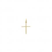 Pingente Ouro 18k Cruz Palito 18 mm