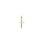 Pingente Ouro 18k Cruz Palito Pequeno 15 mm