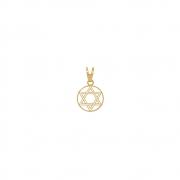 Pingente Ouro 18k Estrela de Davi Pequena 10 mm