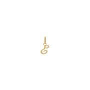 Pingente Ouro 18k Letra ''E'' Manuscrita Lisa 10 mm